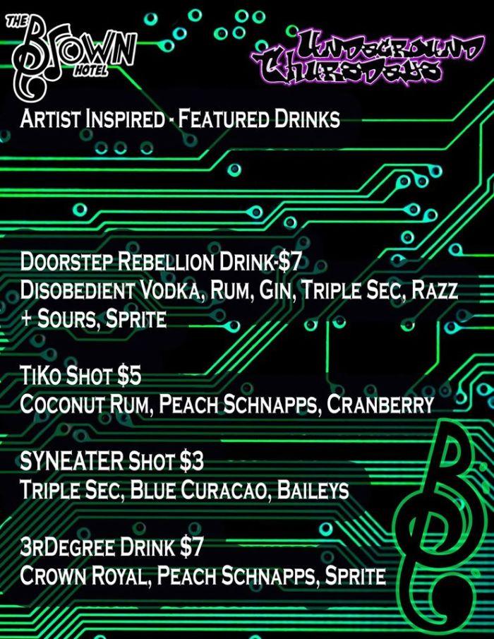 artist inspired drinks-edm
